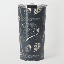 Sea shells pattern Travel Mug