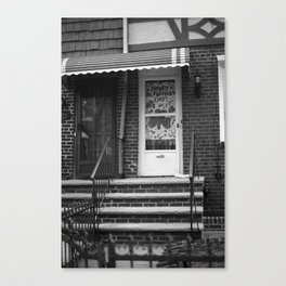 Brooklyn Stoop 2001 BW #2 Canvas Print