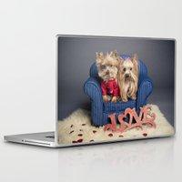 yorkie Laptop & iPad Skins featuring Yorkie Love - Pet photography by Portrait Griffé par Geneviève Lacombe