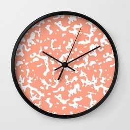 Peach and White Composition Notebook Wall Clock