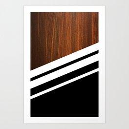 Wooden Black Art Print