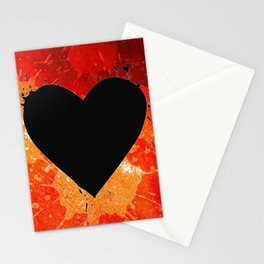 Red Hot Heart Stationery Cards