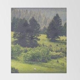 Green Pastures Throw Blanket