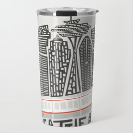 Seattle Cityscape Travel Mug