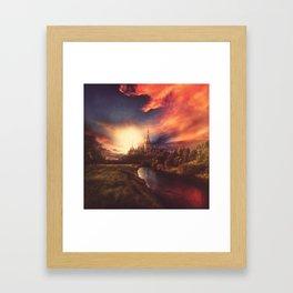 Summers Set Framed Art Print