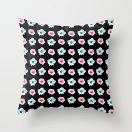 Sepia and pink flowers -bloom,blossom,petal,floral,leaves,flor,garden,nature,plant. Throw Pillow