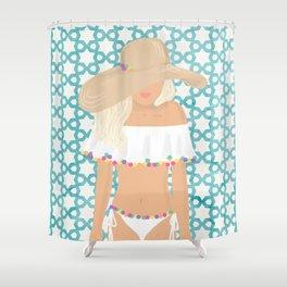 The Summer Girl Shower Curtain