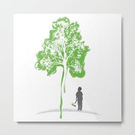 Paint a Tree Metal Print