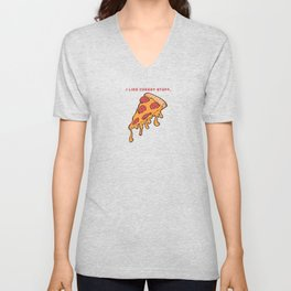 I like cheesy stuff - Cheesy  Pizza Slice Unisex V-Neck