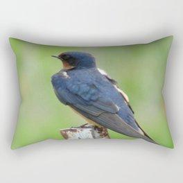 Barn Swallow at Jensen Nature Preserve Rectangular Pillow