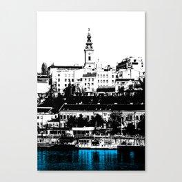 Port on the River Sava in Belgrade / BLUE Canvas Print