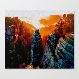 The Swiss View Canvas Print
