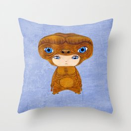 A Boy - E.T. the Extra-terrestrial Throw Pillow