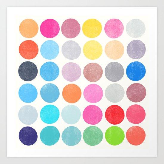 colorplay 9 Art Print