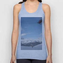 Skiers on chairlift 2 Unisex Tank Top
