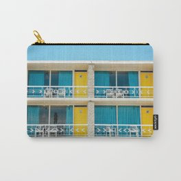Retro Hotel Print Carry-All Pouch