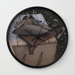 Old Hat Wall Clock