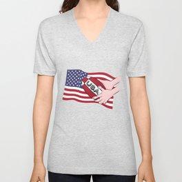 Rugby USA Flag Unisex V-Neck