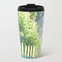 Charming Green Paris Fence in Montmartre Travel Mug