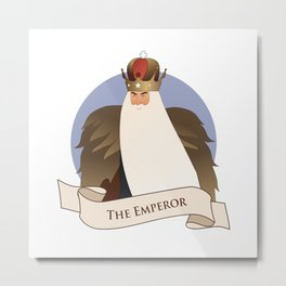 Tarot Card. The Emperor Metal Print