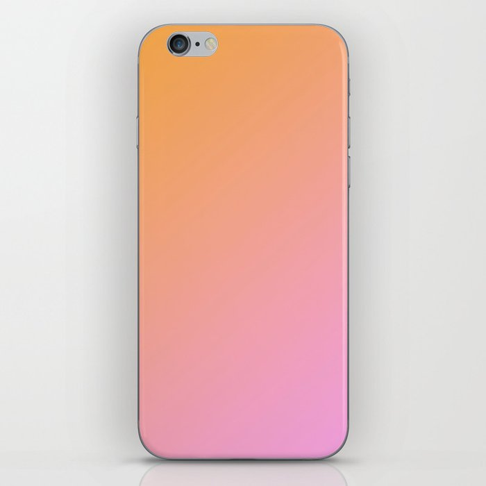 Orange, pink Ombre. iPhone Skin