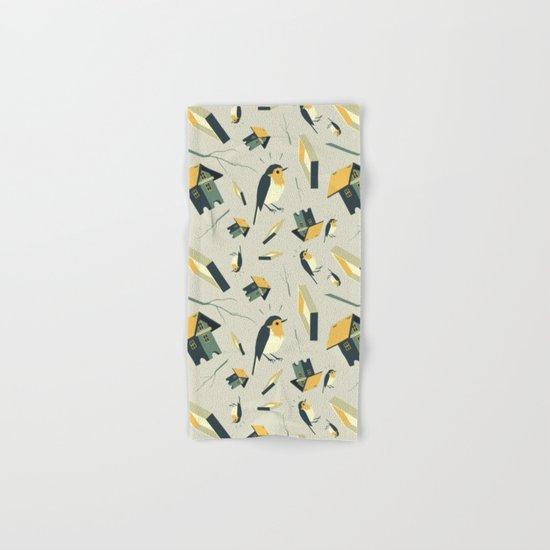 Flying Birdhouse (Pattern) Hand & Bath Towel