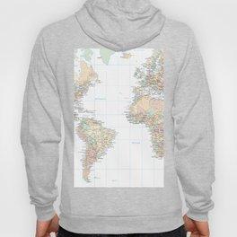Clear World Map Hoody