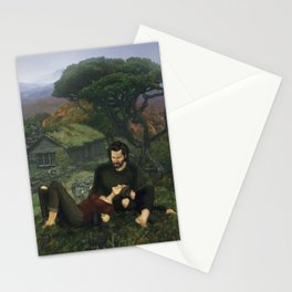 """""""The Ghosts That We Knew Will Flicker From View; and We'll Live a Long Life."""" Stationery Cards"""