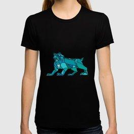 Bobcat Prowling Mosaic T-shirt