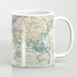 Vintage Map of The World (1801) Coffee Mug