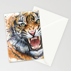Tiger Watercolor Wild Animal Jungle Animals Stationery Cards