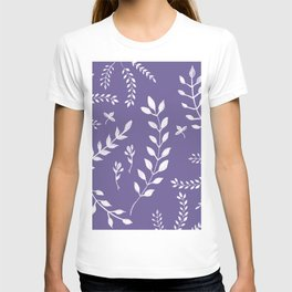 Ultra Violet Leaves Pattern #2 #drawing #decor #art #society6 T-shirt