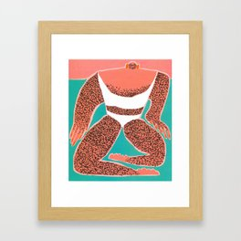 So This Is How You Swim Inward Framed Art Print