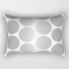 Silver Metallic Circles Dots Rectangular Pillow