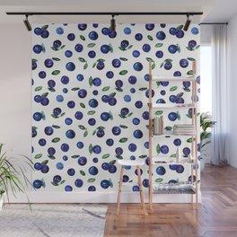 Blueberries Wall Mural