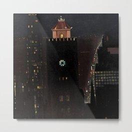 New York City Night Skyline landscape by Georgia O'Keeffe Metal Print