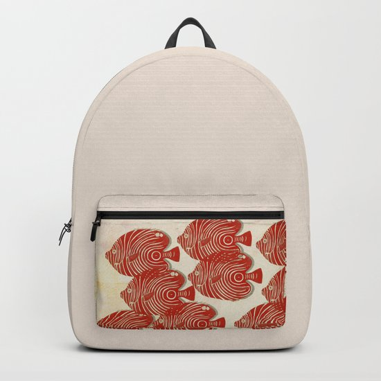 Shoal of Red Fish Backpack