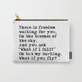 What if you fly? Vintage typewritten Carry-All Pouch