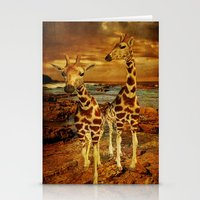 giraffes Stationery Cards featuring Giraffes by PineSinger