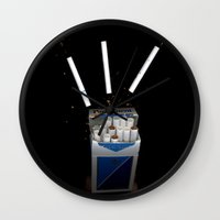 cigarettes Wall Clocks featuring Cigarettes by Courtney Decker