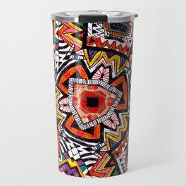 Tribal Abstract Travel Mug