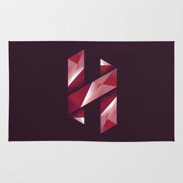 Alphabet letter polygon H Rug