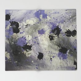 Purple Splash Throw Blanket