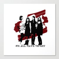 pretty little liars Canvas Prints featuring Pretty Little Liars by Rose's Creation