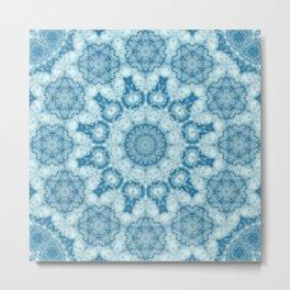 Beautiful blue sky mandala Metal Print