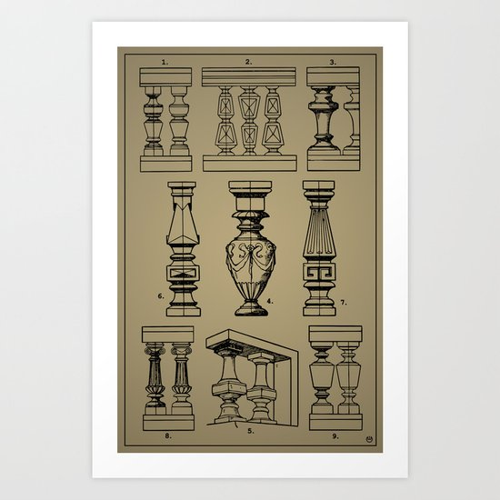 Architectural Elements III Art Print