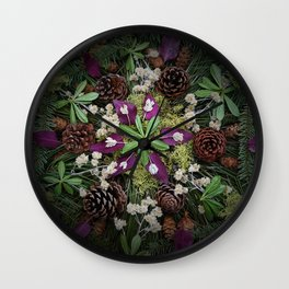 Nature Mandala: November Wall Clock