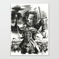 aragorn Canvas Prints featuring Aragorn by Juan Pablo Cortes