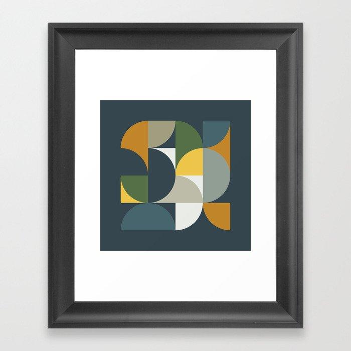 Mid Century Geometric 13/2 Gerahmter Kunstdruck
