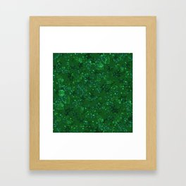 Green shiny confetti Framed Art Print